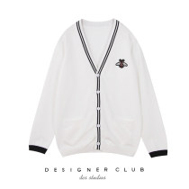 Wool knitwear Spring of 2018 S M L White black Long sleeves singleton  Cardigan Viscose 51% (inclusive) - 70% (inclusive) Medium length routine street easy V-neck routine Single breasted eleven thousand two hundred and fifty-one 18-24 years old