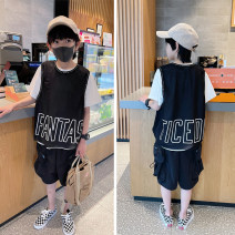 T-shirt Black, black reservation Other / other 110 / 110cm, 120 / 120cm, 130 / 130cm, 140 / 140cm, 150 / 150cm, 160 / 160cm, 170 / 165cm male summer Short sleeve Crew neck leisure time There are models in the real shooting nothing other other Cotton 95% polyurethane elastic fiber (spandex) 5% Class B
