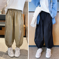 trousers Other / other neutral 110 / 110cm, 120 / 120cm, 130 / 130cm, 140 / 140cm, 150 / 150cm, 160 / 160cm Black, khaki, black, khaki spring and autumn trousers Hip hop There are models in the real shooting Casual pants Leather belt middle-waisted Don't open the crotch Cotton 50% other 50% Class B