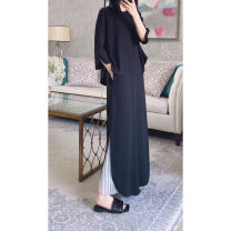Dress Spring 2021 black 36-S,38-M,40-L longuette Three piece set Long sleeves Y01H03-1322W 51% (inclusive) - 70% (inclusive)