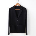 man 's suit black Others Youth fashion routine M,L,XL,2XL,3XL Knitted suit f9130 standard Double breasted Other leisure No slits youth Long sleeves autumn UltraShort  tide Casual clothes Baling collar Round hem Regular collar (collar width 7-9cm) Knitted fabric 2019 Three dimensional bag