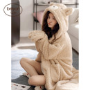 Nightgown / bathrobe Beiyan female 155(S),160(M),165(L),170(XL) F6543, f6742 thickening Cartoon Polyester (polyester) winter More than 95% Medium length (knee to Mid Calf) Coral velvet fabric Cartoon animation youth F6543#. Embroidery