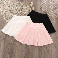 skirt Other / other Cotton 95% others 5% female Three, four, five, six, seven, eight, nine, ten, eleven, twelve, thirteen, fourteen summer skirt Pleats Solid color college cotton White, black, gray, blue, pink 90cm,100cm,110cm,120cm,130cm,140cm,150cm,160cm,170cm