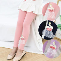trousers Chen Yu female 100cm,110cm,120cm,130cm,140cm,150cm PINK SWAN, Tibetan swan, purple swan, black lollipop, pink bird, Rose Butterfly, violet butterfly, green lollipop, yellow butterfly, black butterfly, Tibetan butterfly spring and autumn Ninth pants There are models in the real shooting