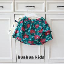skirt Blue, yellow Other / other female Cotton 100% summer Broken flowers cotton