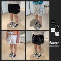 trousers Chen Chen's mother female 80, 90, 100, 110, 120, 130, 140 Black, white, Polka white, Polka black, black batch 3 summer shorts There are models in the real shooting Casual pants Leather belt middle-waisted other Don't open the crotch Y2858
