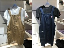 Dress Summer 2021 Dark blue, Khaki XS,S,M More than 95% cotton