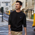 Sweater Youth fashion Kuegou / cool clothes Black, orange M/170,L/175,XL/180,XXL/185,XXXL/190 Solid color Socket routine Crew neck autumn Straight cylinder leisure time youth tide routine other cotton Embroidery No iron treatment 80% (inclusive) - 89% (inclusive) Youth fashion