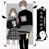 Cartoon T-shirt / Shoes / clothing Sweater Over 14 years old devil Pre sale Women's and men's S M L Winter and Autumn Curtilage Department of art and Japanese, leisure and lovely College