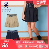 skirt 120cm, 130cm, 140cm, 150cm, 160cm, 165cm, 170cm, 180cm, please contact customer service! Navy 10q262, khaki 10q263 Eton Kidd / Eton Kidd female Cotton 60% polyester 40% spring and autumn skirt college Solid color Pleats blending 10Q262