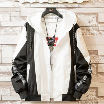 Jacket Other / other Youth fashion 2XL 130-145, s 65-85, 5XL 175-185, 3XL 145-160, m 85-100, l 100-115, XL 115-130, 4XL 160-175 Self cultivation Other leisure spring Long sleeves Wear out Hood Youthful vigor teenagers short Zipper placket 2020 Closing sleeve