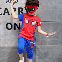 suit Other / other 100cm,110cm,120cm,130cm,140cm,150cm male summer motion Short sleeve + pants 2 pieces Thin money There are models in the real shooting Socket nothing Cartoon animation cotton children Giving presents at school Class B Cotton 90% polyurethane elastic fiber (spandex) 10%