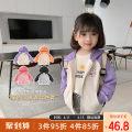Plain coat Qiqi Miaomiao female 90cm,100cm,110cm,120cm,130cm Black, purple, orange, pink spring and autumn Korean version Zipper shirt routine nothing Solid color Cotton polyester V-neck C111WT004 Cotton 82.2% polyester 17.8% other
