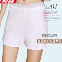 Pajamas / housewear White, black, skin color M,L,XL female Three minutes of pants routine rubber string middle-waisted silk More than 95% K018 other