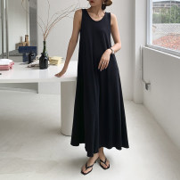 Dress Summer 2021 black Average size Mid length dress singleton  Sleeveless commute Crew neck Loose waist Solid color Socket Big swing other Others 25-29 years old Type H Korean version T3386 51% (inclusive) - 70% (inclusive) other other