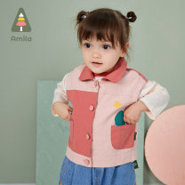 Vest female Pink 73cm 80cm 90cm 100cm 110cm 120cm Ah, Mila spring and autumn routine There are models in the real shooting Single breasted leisure time cotton Cartoon animation Other 100% AMJ156 Cotton liner Spring 2021 Six months 12 months 9 months 18 months 2 years 3 years 4 years 5 years 6 years