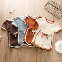 suit Other / other female summer Europe and America Solid color cotton Class A 3 months, 6 months, 12 months, 9 months, 18 months