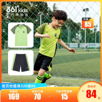 suit 361° Brilliant green / Classic Black Sport Blue / Sport Blue tomato red / Classic Black White / Sport Blue 130cm 140cm 150cm 160cm 170cm male summer motion Short sleeve + pants 2 pieces Thin money There are models in the real shooting Socket nothing Solid color polyester children N52021404