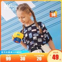 T-shirt Classic black and white 361° 130cm 140cm 150cm 160cm 165cm female summer Short sleeve Crew neck leisure time Official pictures polyester fiber Geometric pattern Polyester 100% N62123201 other Quick drying Summer 2021 7, 8, 9, 10, 11, 12 Chinese Mainland Fujian Province Quanzhou City