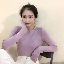 T-shirt M58-f-khaki, j50-i-white, j89-o-purple, l12-f-blue, q11-s-yellow, k56-q-black, i48 caramel, L50 pink, C19 coffee Average size Spring 2020 Long sleeves Crew neck commute polyester fiber 51% (inclusive) - 70% (inclusive) 18-24 years old Korean version Other / other Q19496