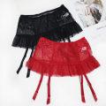 Garters Black, red Average size Mesh fabric Lotus leaf edge nylon