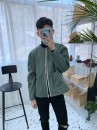 Jacket Other / other Youth fashion light green M,L,XL routine easy Other leisure autumn Long sleeves Wear out stand collar tide youth routine zipper 2021 Rib hem routine Solid color polyester fiber Side seam pocket