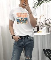 T-shirt Youth fashion Blue, black, white routine S,M,L,XL,2XL,3XL Others Short sleeve Crew neck Self cultivation daily summer youth Exquisite Korean style 2019