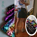 skirt Summer of 2018 XXS,XS,S,M,L,XL,2XL,3XL,4XL,5XL Black, decor, purple, rose, white, silver Short skirt commute Natural waist Type A other Other / other Pockets, sequins, zippers Simplicity