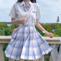 skirt Summer 2020 XS,S,M,L,XL 45cm + airplane box, 45cm + flat knot + coat hanger + famous tie + airplane box, 45cm + long handle knot + coat hanger + famous tie + airplane box Short skirt commute High waist Pleated skirt lattice Type A 18-24 years old More than 95% other polyester fiber