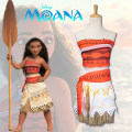 Cartoon T-shirt / Shoes / clothing T-shirt Over 6 years old Ocean Wonders Customized Moana children's clothing full set of Moana wigs Average size 100 110 120 130 140 150 Summer and spring U.S.A female Star diffuse field Lovely retro fashion trend simple cotton