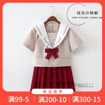 student uniforms Winter, summer, spring and autumn of 2019 S,M,L,XL,XXL Short sleeve solar system skirt Bailiphil / Bellefield