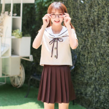 student uniforms Winter, summer, spring and autumn of 2019 S,M,L,XL,XXL Long sleeves solar system skirt 18-25 years old Bailiphil / Bellefield