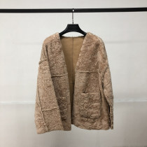 leather and fur Winter of 2018 Other / other Green Brown Pink S M L F183DK657