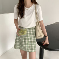 skirt Summer 2020 S [80-110kg], m [120-130kg], l [130kg-150kg] Light green grid, sky blue grid Short skirt sexy low-waisted other Solid color Type H 18-24 years old XBQ21005 More than 95% other hemp 401g / m ^ 2 (inclusive) - 500g / m ^ 2 (inclusive)