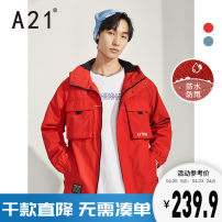 Windbreaker Big red, grey blue A21 Youth fashion 165/80A/S 170/84A/M 175/88A/L 180/92A/XL 185/96A/XXL zipper routine easy Other leisure autumn youth Hood (not detachable) tide R403114012 Polyester 100% other printing Digging bags with lids other Autumn 2020