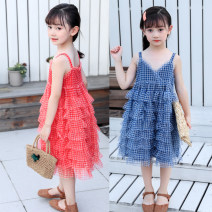 Dress Red, blue female Angel in pure clothes 110cm,120cm,130cm,140cm,150cm,160cm Other 100% summer princess Skirt / vest Solid color cotton Cake skirt Gauze suspender skirt Class B Five, six, seven, eight, nine, ten, eleven, twelve, thirteen, fourteen Chinese Mainland Zhejiang Province Huzhou City