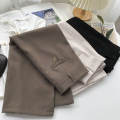 skirt Spring 2021 S,M,L Apricot, black, khaki Mid length dress commute High waist A-line skirt Solid color Type A 18-24 years old Splicing Korean version