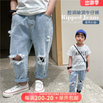 trousers OO+KIDS neutral 80cm,90cm,100cm,110cm,120cm,130cm,140cm,150cm spring and autumn trousers Korean version There are models in the real shooting Jeans Leather belt middle-waisted other other 2 years old, 3 years old, 4 years old, 5 years old, 6 years old Chinese Mainland