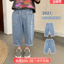 trousers OO+KIDS neutral 80cm,90cm,100cm,110cm,120cm,130cm,140cm,150cm Denim, denim presale summer trousers Korean version There are models in the real shooting Jeans Leather belt middle-waisted other other 2 years old, 3 years old, 4 years old, 5 years old, 6 years old Chinese Mainland