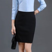 skirt Summer of 2018 S,M,L,XL,2XL,3XL,4XL,5XL Short skirt commute Natural waist Suit skirt Solid color Type X 25-29 years old 91% (inclusive) - 95% (inclusive) other Good faith polyester fiber Pleated, zipper Ol style 201g / m ^ 2 (including) - 250G / m ^ 2 (including)