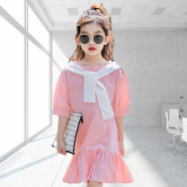 Dress Blue, pink female Other / other 110cm,120cm,130cm,140cm,150cm,160cm,170cm Cotton 95% other 5% summer Korean version Long sleeves lattice cotton A-line skirt Class B 8, 7, 14, 6, 13, 11, 5, 4, 10, 9, 12 Chinese Mainland Zhejiang Province Huzhou City