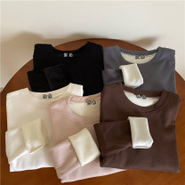 T-shirt Black, white, apricot, gray, brown Average size Winter 2020 cotton 96% and above