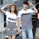 T-shirt Youth fashion White red blue 5218 red white routine Female s / 155 female M / 160 female L / 165 female XL / 170 male M / 170 male L / 175 male XL / 180 male XXL / 185 Ensun  Short sleeve Crew neck Self cultivation Other leisure summer 5292S Cotton 95% polyurethane elastic fiber (spandex) 5%