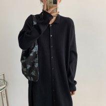 Wool knitwear Autumn 2020 Single code Black, khaki, khaki Long sleeves singleton  Socket Viscose 31% (inclusive) - 50% (inclusive) Medium length routine easy Polo collar routine Solid color Single breasted 2020.10.13