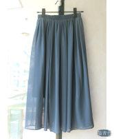 skirt Summer of 2018 Skirt length - 75cm, skirt length - 85CM Black, white, light gray, dark gray, Navy, cyan Mid length dress Versatile High waist Solid color Type H 25-29 years old Brocade and silk fold
