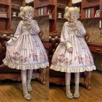 Dress Autumn of 2019 Picture color dress S,M,L Middle-skirt singleton  Long sleeves Sweet Crew neck middle-waisted Cartoon animation Socket Princess Dress other Others Type X A dream of Xiangcheng Bows, ruffles, embroidery, stitching, three-dimensional decoration, printing other cotton Lolita