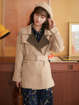 short coat Autumn 2020 S,M,L Khaki, black, brown Long sleeves routine routine singleton  Straight cylinder commute routine tailored collar double-breasted Solid color 51% (inclusive) - 70% (inclusive) S1013-1 polyester fiber polyester fiber