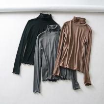 T-shirt Camel, black, grey M, L Autumn of 2018 High collar Regular cotton 30% and below