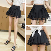 skirt Summer 2021 S,M,L,XL,2XL black Short skirt sexy Natural waist A-line skirt Solid color Type A 18-24 years old C2611 31% (inclusive) - 50% (inclusive) other polyester fiber
