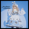 Lolita / soft girl / dress C suit wathet One size fits all, s, m, l Customized